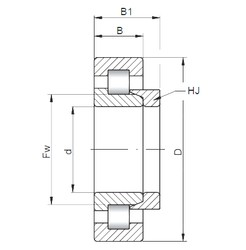 100 mm x 250 mm x 58 mm  ISO NH420 cylindrical roller bearings