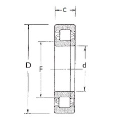 100 mm x 180 mm x 34 mm  FBJ NUP220 cylindrical roller bearings