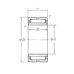 110 mm x 150 mm x 40 mm  NSK NA4922 needle roller bearings