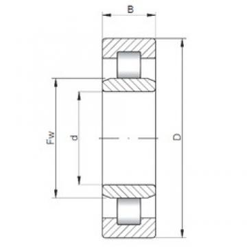 200 mm x 360 mm x 58 mm  ISO NU240 cylindrical roller bearings