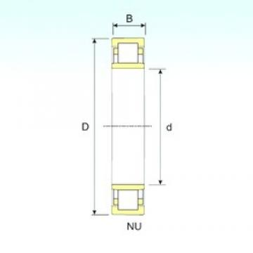 80 mm x 170 mm x 39 mm  ISB NU 316 cylindrical roller bearings