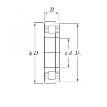 200 mm x 360 mm x 58 mm  KOYO NUP240R cylindrical roller bearings