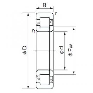 100 mm x 180 mm x 34 mm  NACHI NUP 220 E cylindrical roller bearings