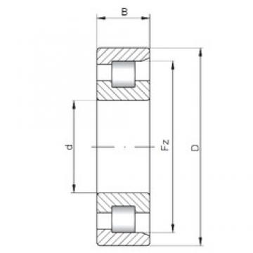 140 mm x 250 mm x 88 mm  ISO NF3228 cylindrical roller bearings