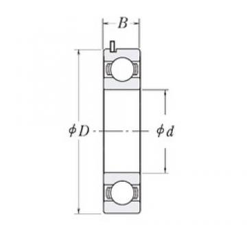 22 mm x 56 mm x 16 mm  HIC 83943A deep groove ball bearings
