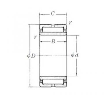 170 mm x 230 mm x 60 mm  NSK NA4934 needle roller bearings