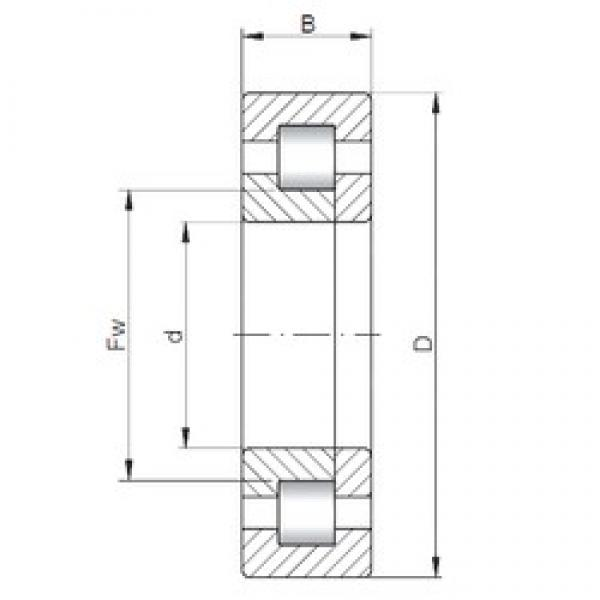 100 mm x 180 mm x 34 mm  ISO NUP220 cylindrical roller bearings #1 image