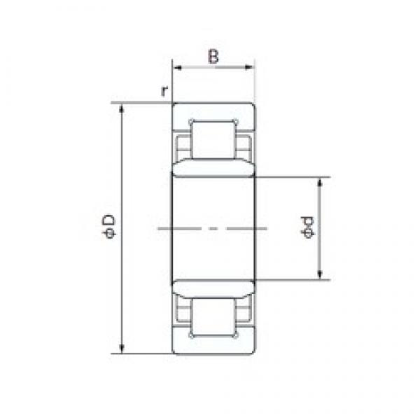 80 mm x 170 mm x 39 mm  NACHI NU316T cylindrical roller bearings #1 image
